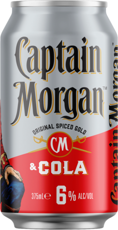 null Captain Morgan Rum & Cola 6% Can 10X375ML