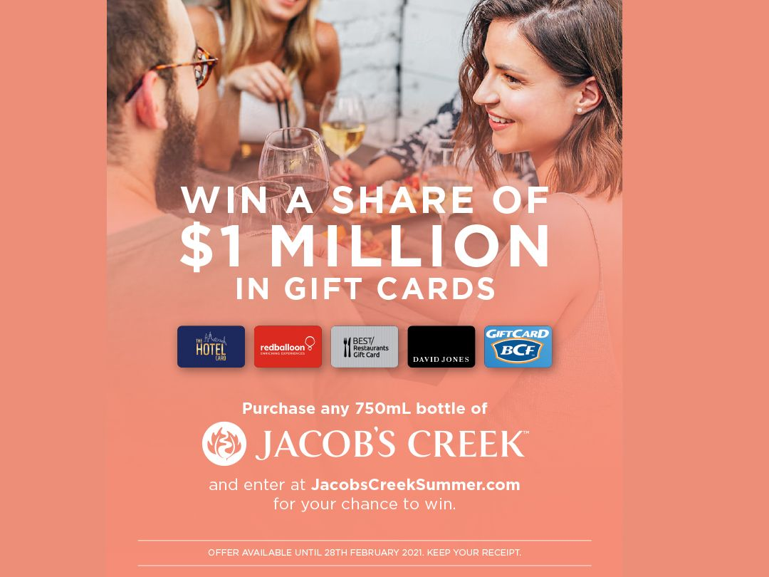 Jacob's Creek $1M Gift Cards Competition